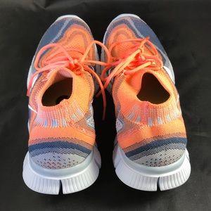 64c4676e77c3 Nike Shoes - Mint Nike Flyknit Free 5.0 Orange rainbow wms 9.5